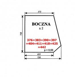 Szyba boczna Ursus 28-12 kabina Smolniki (KOJA, nowy typ)