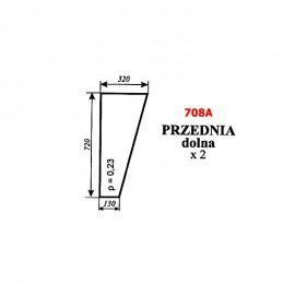 Szyba przednia dolna Ursus 35-12, 34-14 kabina KOJA Smolniki