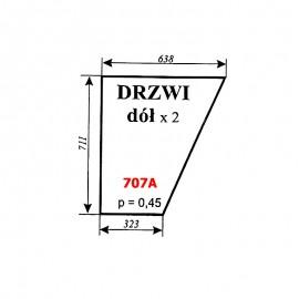 Szyba dolna drzwi Ursus 35-12, 34-14 kabina KOJA Smolniki