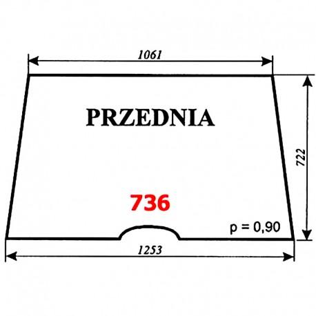 Szyba przednia Ursus 6014, kabina Sokółka