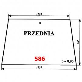 Szyba przednia Ursus 2812, kabina Zamość (prod. 1996)