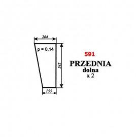 Szyba przednia dolna Ursus 2812, kabina Zamość (prod. 1996)