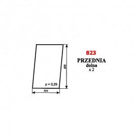 Szyba przednia dolna Ursus 1634, kabina Kunów 1997 r.