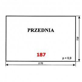 Szyba przednia MF-255, kabina Luboń k. Poznania