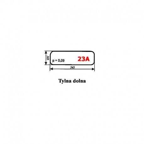 Szyba tylna dolna MF-255, kabina Lubsko typ KBMF/1