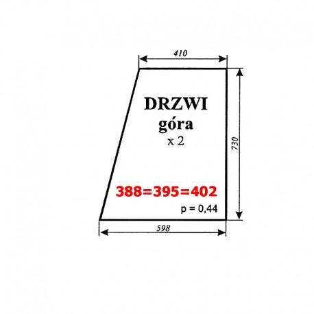 Szyba górna drzwi MF-255, kabina Smolniki (KOJA)