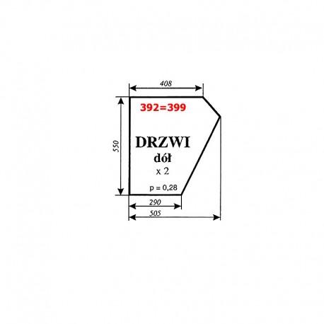 Szyba dolna drzwi MF-255, kabina Smolniki (KOJA)