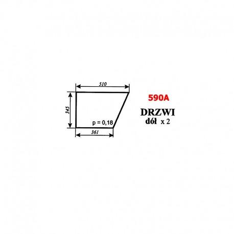 Szyba dolna drzwi (wariant) MF-255, kabina POM Zamość (prod. 1996)