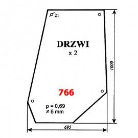 Szyba drzwi MF-675, 690, 699 (1982), 1014 (1990)