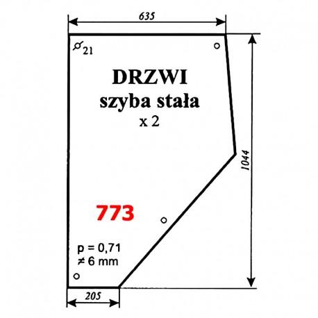 """Szyba drzwi stała MF """"Anglik"""", MF-3690, MF-3080"""