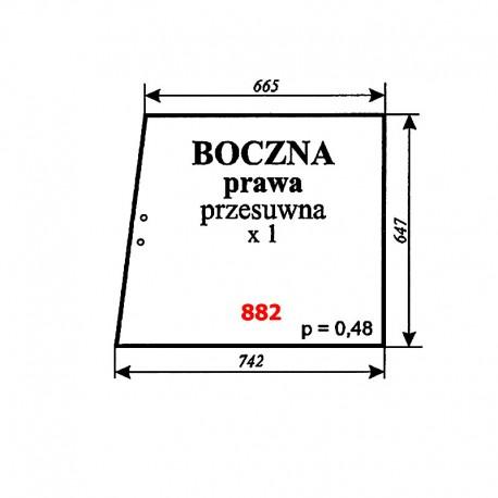 Szyba boczna prawa przesuwna MF-2620