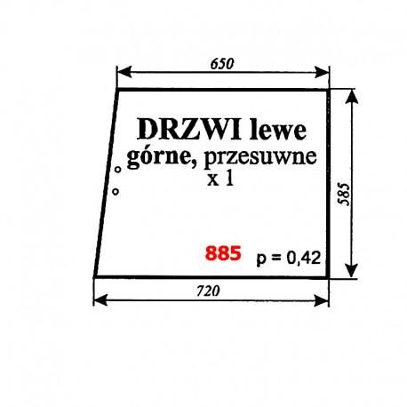 Szyba górna drzwi lewych przesuwnych MF-2620