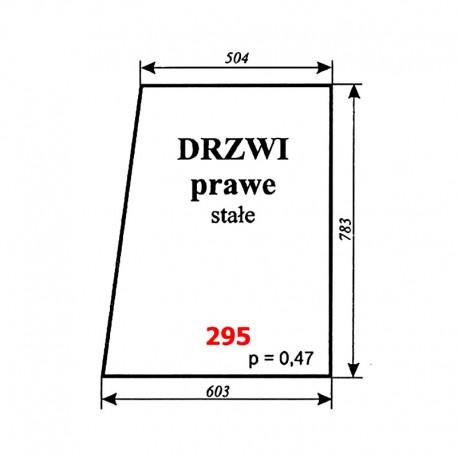 Szyba drzwi prawych T25 A2 (C-330), kabina Ciechanów
