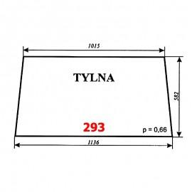 Szyba tylna T25 A2 (C-330), kabina Ciechanów