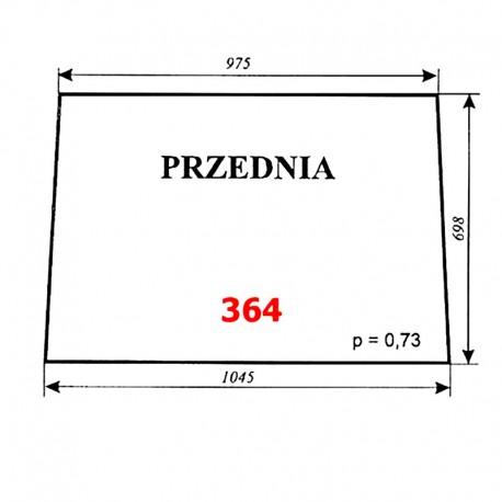 Szyba przednia T25, kabina Ciechocin