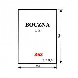 Szyba boczna T25, kabina Ciechocin