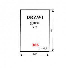 Szyba górna drzwi T25, kabina Ciechocin