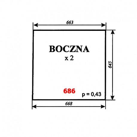 Szyba boczna T25, kabina Zbigniew Szyszka (Koźmin)