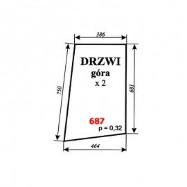 Szyba górna drzwi T25, kabina Zbigniew Szyszka (Koźmin)