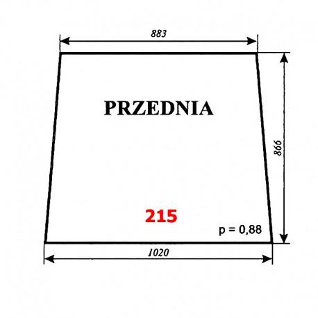 Szyba przednia T25A, kabina czeska