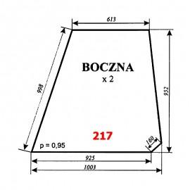 Szyba boczna T25A, kabina czeska
