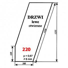 Szyba drzwi lewych T25A, kabina czeska