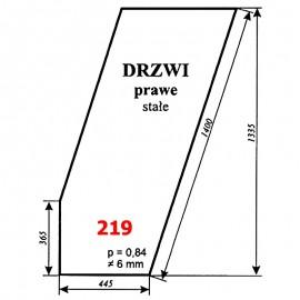 Szyba drzwi prawych T25A, kabina czeska