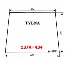 Szyba tylna T25A, kabina polska