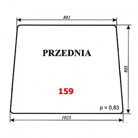 Szyba przednia T25 A2 Władimiriec, kabina rosyjska
