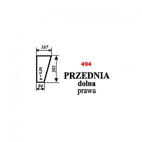 Szyba przednia dolna prawa T25 A2 kabina Sokółka
