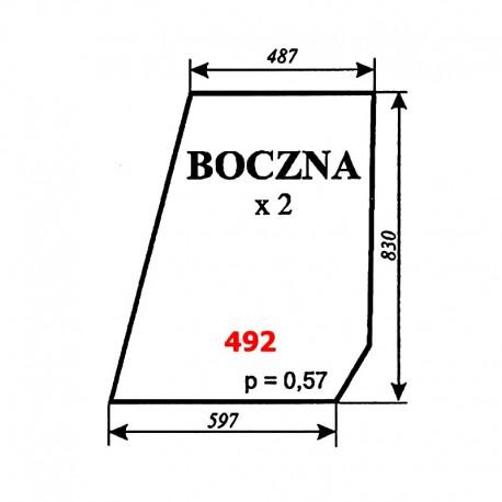 Szyba boczna T25 A2 kabina Sokółka
