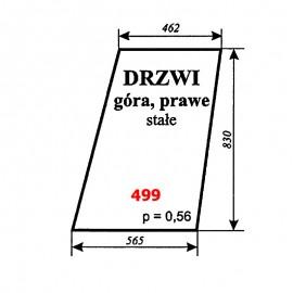 Szyba górna drzwi prawych T25 A2 kabina Sokółka