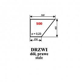 Szyba dolna drzwi prawych T25 A2 kabina Sokółka