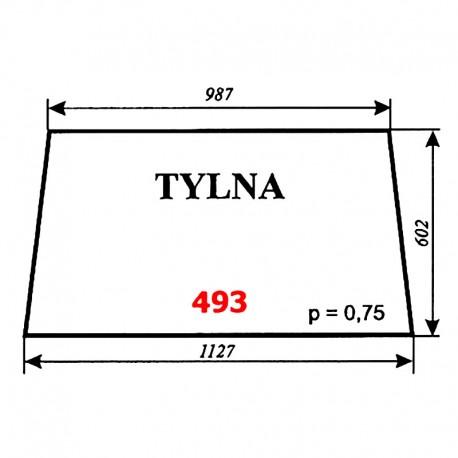 Szyba tylna T25 A2 kabina Sokółka