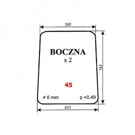 Szyba boczna MTZ-82 Białoruś 80-6700 Type 3