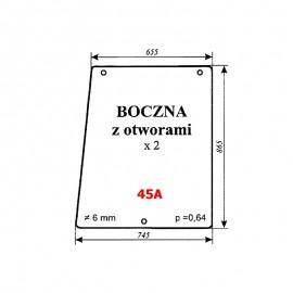 Szyba boczna z otworami MTZ-82 Białoruś 80-6700 Type 3