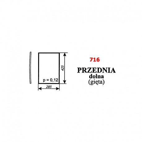 Szyba przednia dolna (gięta) kabiny ciągnika Pronar 320A