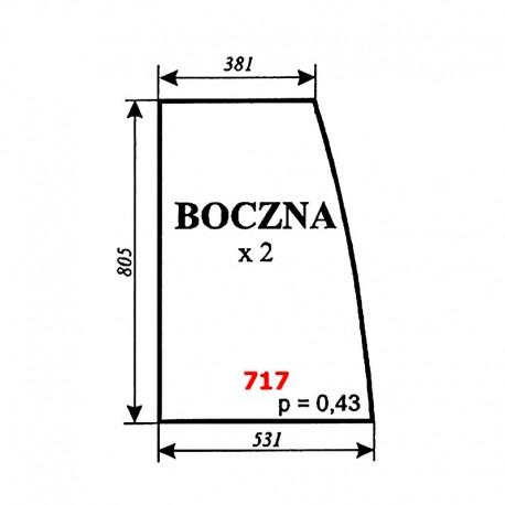 Szyba boczna kabiny ciÄ…gnika Pronar 320A