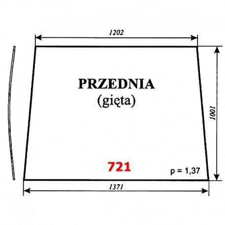 Szyba przednia (giÄ™ta) Pronar 82A, 82SA, 82TSA, 1025A, 1221A