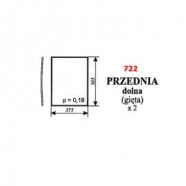 Szyba przednia dolna (gięta) Pronar 82A, 82SA, 82TSA, 1025A, 1221A