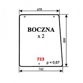 Szyba boczna Pronar 82A, 82SA, 82TSA, 1025A, 1221A