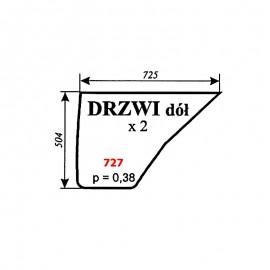 Szyba dolna drzwi Pronar 82A, 82SA, 82TSA, 1025A, 1221A