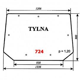 Szyba tylna Pronar 82A, 82SA, 82TSA, 1025A, 1221A