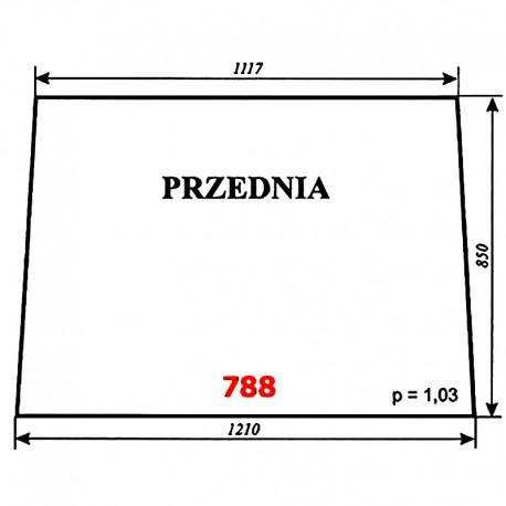 Szyba przednia ciągnika T-25 A2, kabina Naglak (Koźmin)