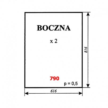 Szyba boczna ciągnika T-25 A2, kabina Naglak (Koźmin)