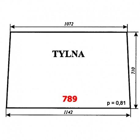 Szyba tylna ciągnika T-25 A2, kabina Naglak (Koźmin)