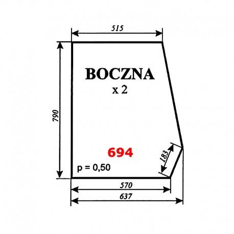 Szyba boczna Escort 335, kabina Smolniki (KOJA)