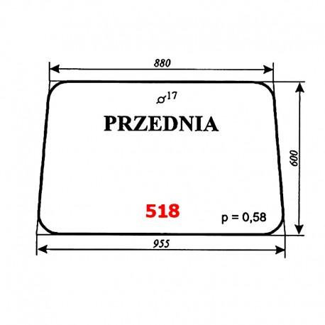 Szyba przednia IMT-579 (Jugosławia)