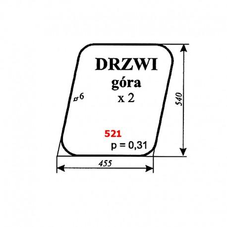 Szyba górna drzwi IMT-579 (Jugosławia)