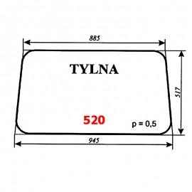 Szyba tylna IMT-579 (Jugosławia)
